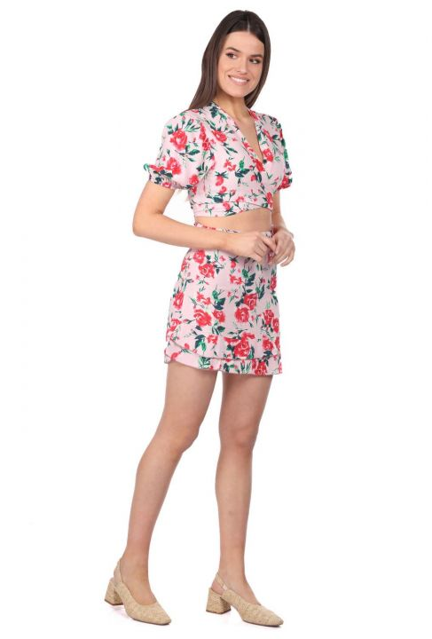 Markapia Bottom Top Floral Pattern Suit
