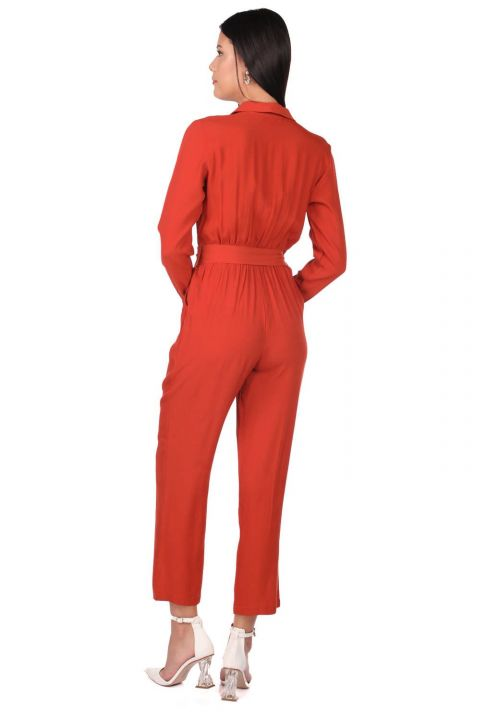 Markapia Uzun Kollu Tulum Pantolon