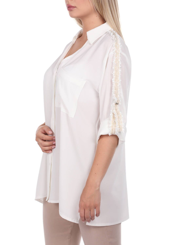 Простая рубашка с отделкой на рукавах Markapia