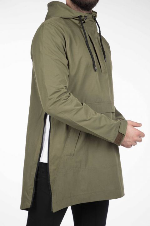 Markapia Erkek Kapüşonlu Düz Ceket
