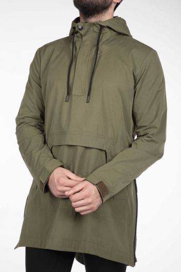 MARKAPIA MAN - Markapia Erkek Kapüşonlu Düz Ceket (1)