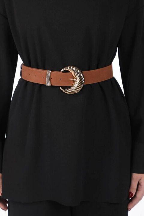 حزام من الجلد المدبوغ من صدفة بلح البحر من ماركابيا