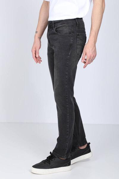 BLUE WHITE - Мужские черные джинсы прямого кроя (1)