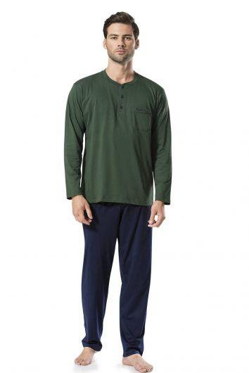 Pierre Cardin Men's Combed Cotton Pajamas - Thumbnail