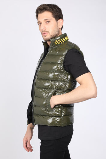 MARKAPIA - Men'sKhakiShiny Gel Inflatable Vest (1)