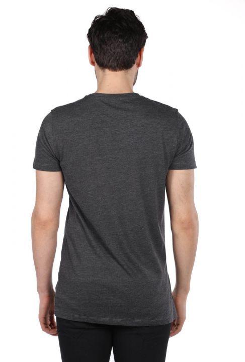 Colorful Printed Men's Crew Neck T-Shirt