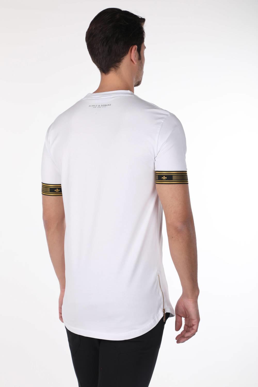 Мужская футболка с круглым вырезом и принтом