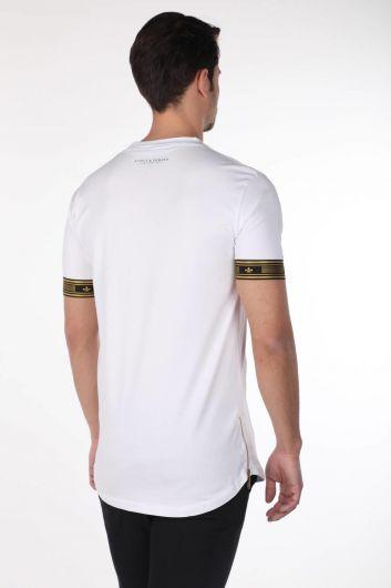 Мужская футболка с круглым вырезом и принтом - Thumbnail