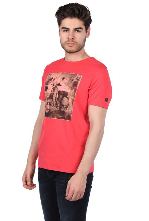 Scooter Printed Men's Crew Neck T-Shirt