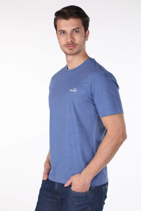 Мужская футболка с круглым вырезом