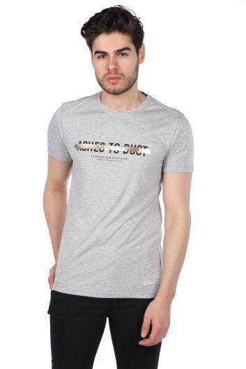MARKAPIA - Мужская футболка стандартного кроя с круглым вырезом (1)