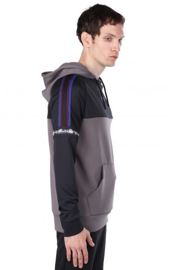 STATUS - Men's Anthracite Piece Hoodie Sweatshirt (1)