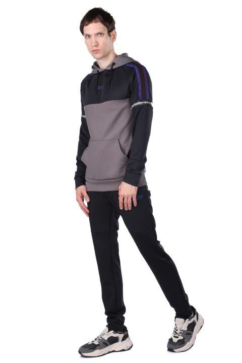 Men's Anthracite Piece Hoodie Sweatshirt