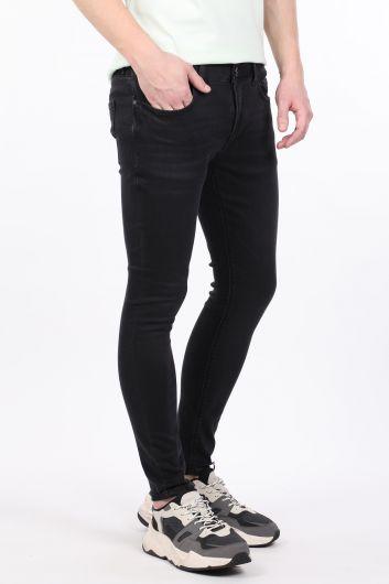 BLUE WHITE - Мужские джинсы скинни антрацитового цвета (1)