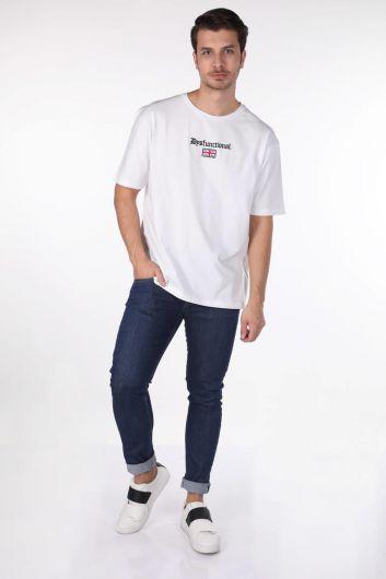 Мужская базовая футболка с круглым вырезом - Thumbnail