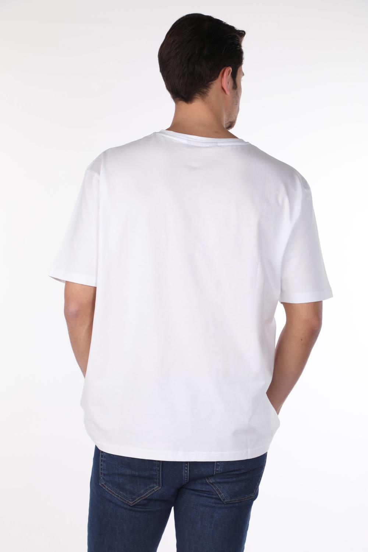Мужская базовая футболка с круглым вырезом