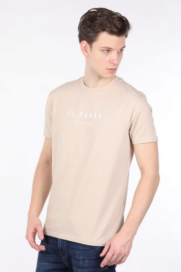 IL SARTO - Men's Beige Crew Neck T-shirt (1)