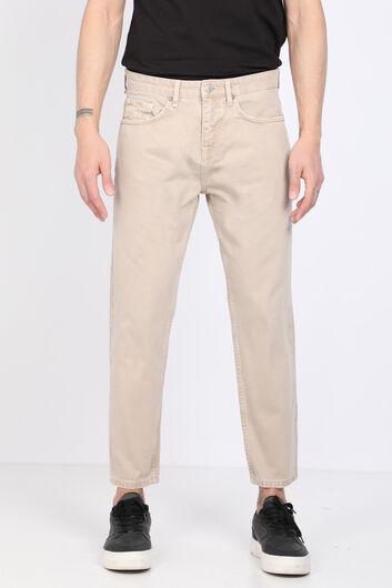 بنطلون جينز بيج متوسط الخصر للرجال - Thumbnail