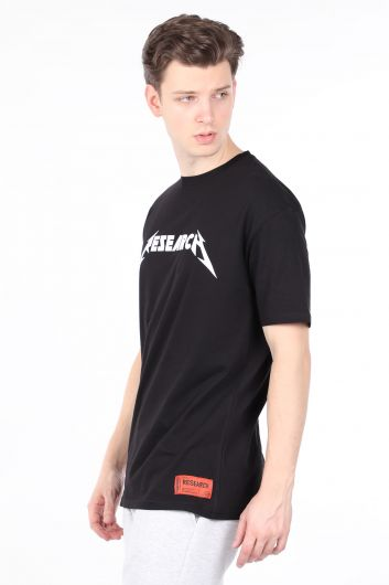 MARKAPIA MAN - Мужская черная футболка с круглым вырезом (1)