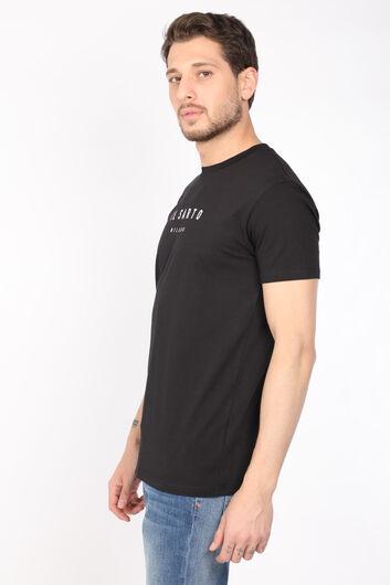COUTURE - Мужская черная футболка с прямым вырезом и круглым вырезом (1)