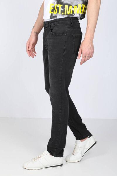 Banny Jeans - بنطلون جينز أسود بقصّة مستقيمة للرجال (1)
