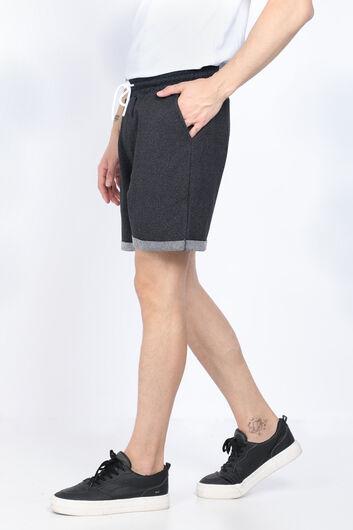 MARKAPIA MAN - Мужские черные базовые шорты из тканого материала (1)