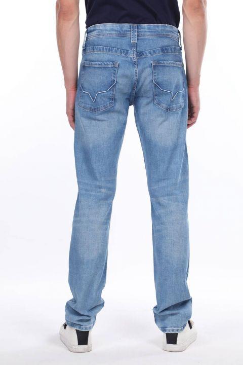 Мужские синие повседневные джинсовые брюки