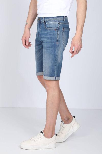 LAST PLAYER - Мужские синие брюки многослойные джинсовые капри (1)