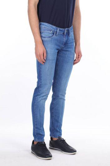 MARKAPIA MAN - Мужские синие джинсовые брюки прямого кроя (1)