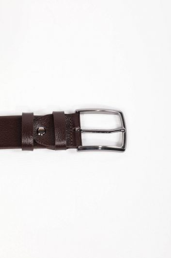 MARKAPIA MAN - Men's Brown Plain Genuine Leather Belt (1)