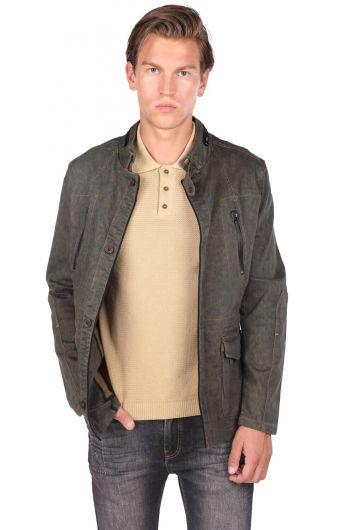 ZEUS - Мужская смирительная куртка с воротником на пуговицах (1)