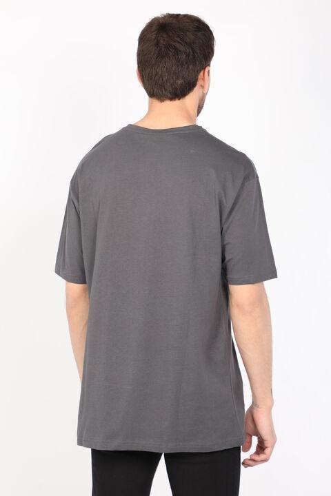 Men's Dark Gray Crew Neck T-shirt