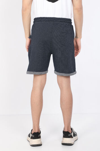 MARKAPIA MAN - Men's Dark Navy Blue Woven Basic Shorts (1)