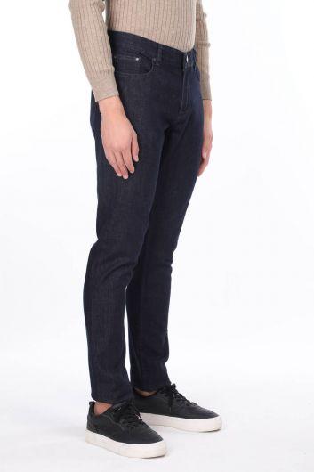 MARKAPIA MAN - بنطلون جينز رجالي داكن عادي (1)