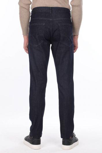 Men's Dark Regular Fit Jeans - Thumbnail