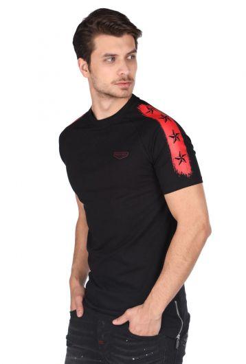 MARKAPIA - Мужская футболка с круглым вырезом и детализированной застежкой-молнией (1)