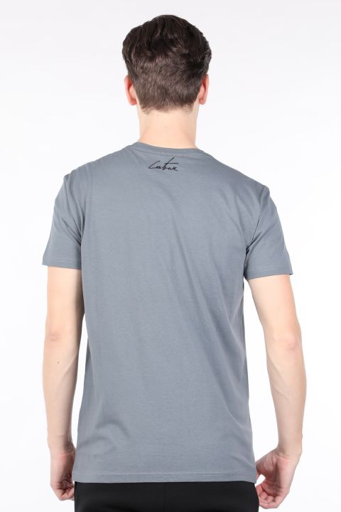 Men's Smoked Couture Printed Crew Neck T-shirt