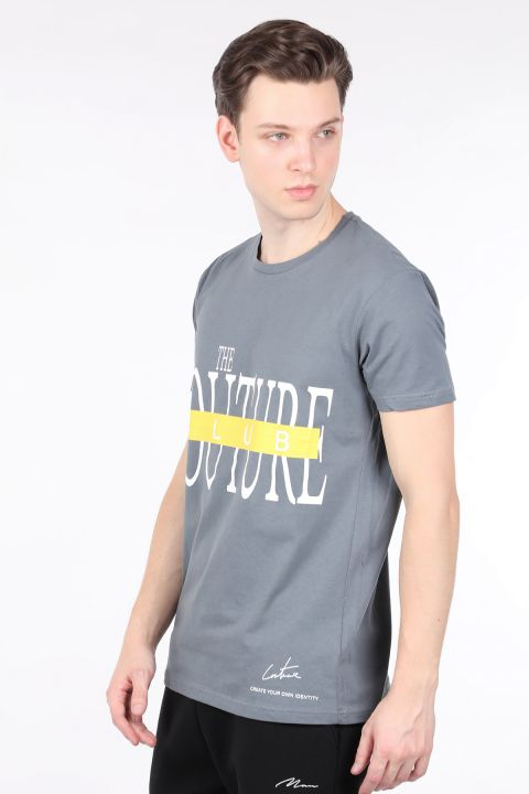 Мужская футболка с круглым вырезом и принтом Smoked Couture