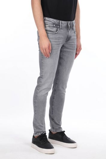 MARKAPIA MAN - بنطلون رمادي رجالي مستقيم الساق (1)