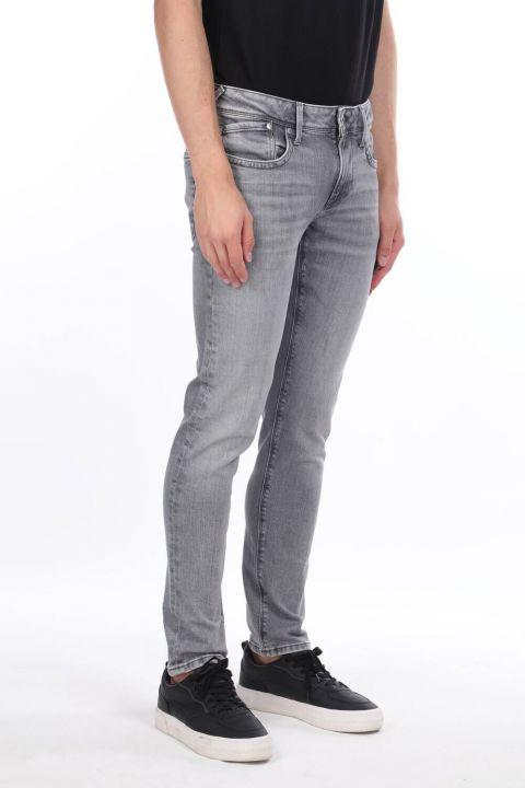 Мужские серые прямые брюки