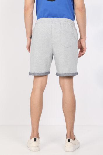 Мужские серые базовые шорты из тканого материала - Thumbnail