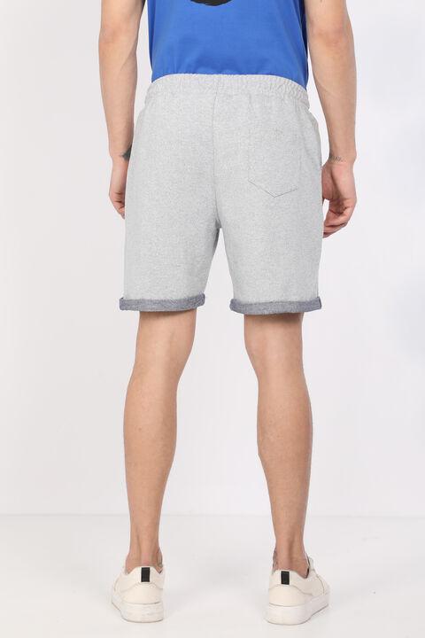 Men's Gray Woven Basic Shorts