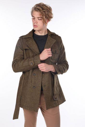 Flecked Pocket Detailed Men's Jacket - Thumbnail