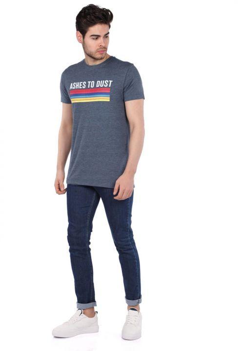 Men's Jakob Color Printed Crew Neck T-Shirt