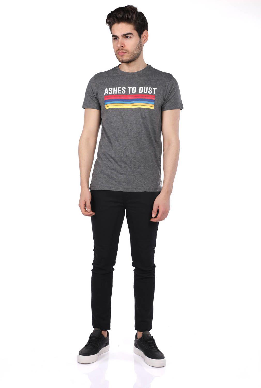 Мужская футболка с круглым вырезом с цветным принтом Jakob