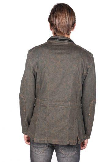 Men's Crew Neck Straight Jacket - Thumbnail