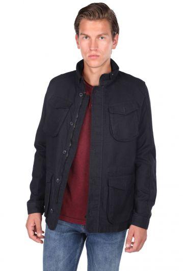 ZEUS - Мужская прямая куртка с круглым вырезом (1)