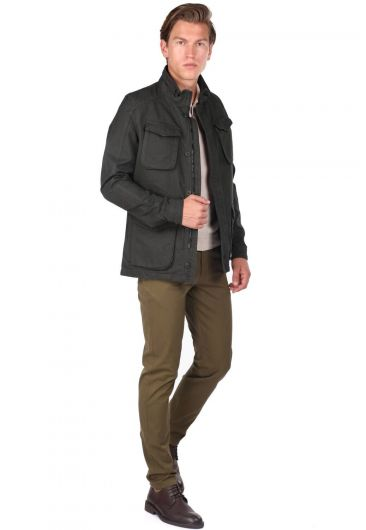 Men's Crew Neck Straight Jacket - Thumbnail