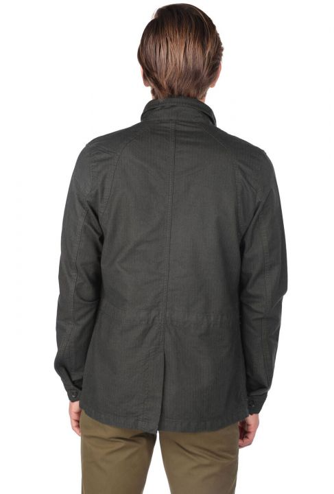 Men's Crew Neck Straight Jacket
