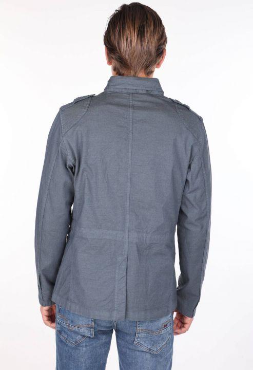 Men's Crew Neck Straight Jacket